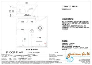 Floor Plan Shower vanity and sep Toilet