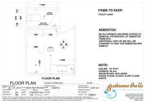 Floor Plan Shower vanity and sep Toilet
